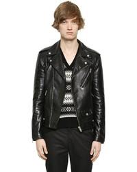 Alexander McQueen Brushed Leather Biker Jacket