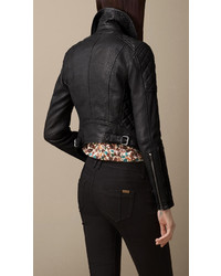 Burberry Grainy Leather Quilted Biker Jacket | Where to buy & how ... : leather quilted biker jacket - Adamdwight.com