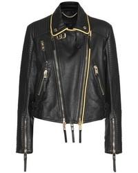 Burberry London England Leather Biker Jacket