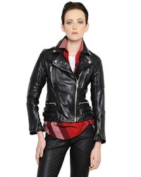 Burberry Smooth Leather Biker Jacket