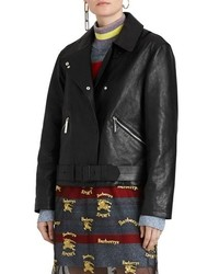 Burberry Burnham D Leather Biker Jacket