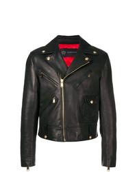 Versace Calf Leather Biker Jacket