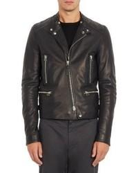 Lanvin Calfskin Biker Jacket Black