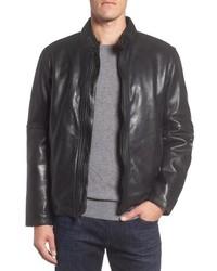 Andrew Marc Calfskin Leather Moto Jacket