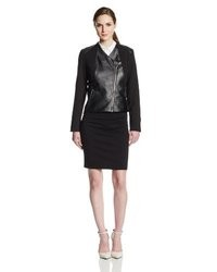 Calvin Klein Faux Leather With Lux Moto Jacket