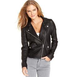 Calvin Klein Jeans Faux Leather Moto Jacket