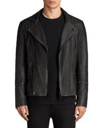 Cargo biker slim fit leather jacket medium 8611617