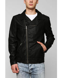 Urban Outfitters Charles 12 Asymmetrical Faux Leather Moto Jacket