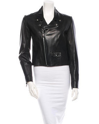 Chrome Hearts Leather Moto Jacket