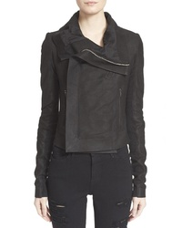 Rick Owens Classic Lambskin Leather Jacket