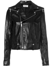 Classic leather biker jacket medium 5052986