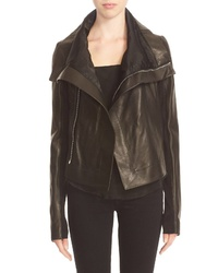 Rick Owens Clean Leather Biker Jacket