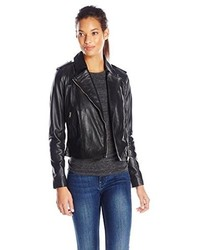 Cole Haan Perforated Italian Leather Moto Jacket
