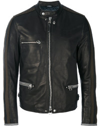 Collarless biker jacket medium 4155178