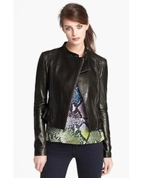 Diane von Furstenberg Heaven Crop Leather Jacket