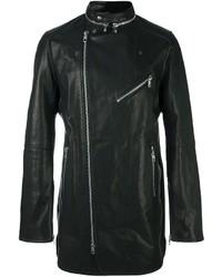 Diesel Black Gold Mid Length Flared Biker Jacket