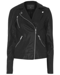 Dorothy Perkins Tall Black Faux Leather Biker Jacket