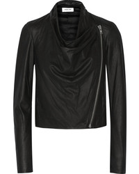 Helmut Lang Draped Leather Biker Jacket