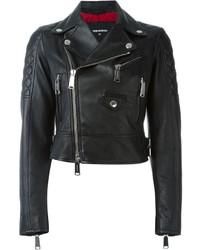 Dsquared2 Cropped Biker Jacket