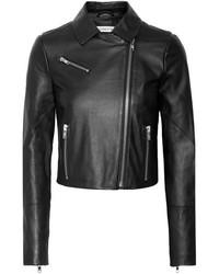 Elizabeth and James Gigi Leather Biker Jacket Black