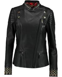 Just Cavalli Embellished Leather Biker Jacket