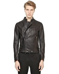 Emporio Armani Nappa Leather Biker Jacket