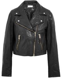 Etoile Isabel Marant Toile Isabel Marant Barry Washed Leather Biker Jacket Black