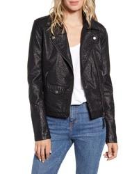 Lira Clothing Fairlane Faux Leather Moto Jacket