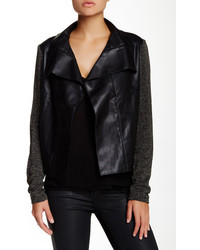 KUT from the Kloth Faux Leather Knit Jacket