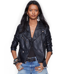 Denim & Supply Ralph Lauren Faux Leather Moto Jacket