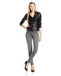 Velvet by Graham & Spencer Faux Leather Moto Jacket