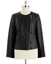 Calvin Klein Faux Leather Moto Jacket