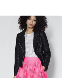 BELLE + SKY Faux Leather Moto Jacket