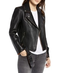 7350519f8a5 Vigoss Faux Leather Vintage Moto Jacket