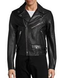 Burberry Flinton Classic Leather Moto Jacket