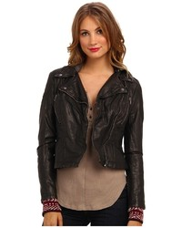 Free People Hooded Vegan Moto Jacket