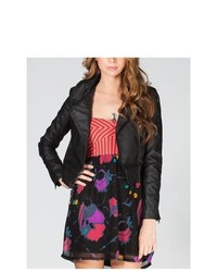 Full Tilt Faux Leather Biker Jacket