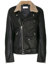 Fur collar biker jacket medium 5264048