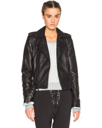 Unravel Fwrd Lace Up Biker Jacket