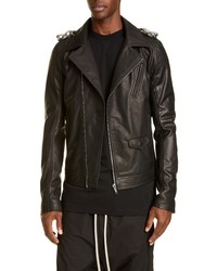 Rick Owens Giacca In Pelle Stooges Leather Biker Jacket
