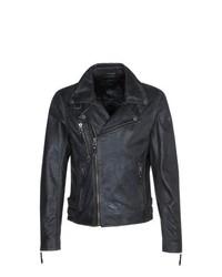 Gipsy Marlon Leather Jacket Black