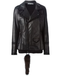 Givenchy Racoon Tail Biker Jacket
