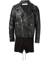 Golden Goose Deluxe Brand Fishtail Hem Biker Jacket