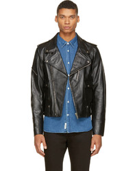 Golden Goose Deluxe Brand Golden Goose Black Leather Chiodo Biker Jacket
