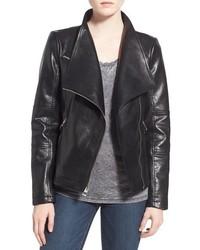 GUESS Asymmetrical Zip Faux Leather Jacket