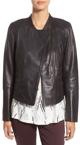 best shoes official shop classic fit $349, Halogen Leather Moto Jacket