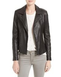 IRO Han Lambskin Leather Moto Jacket