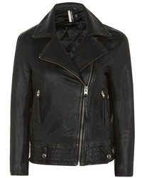 Topshop Hand Painted Leather Biker Jacket