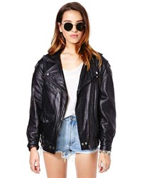 Nasty Gal Helluva Ride Leather Moto Jacket