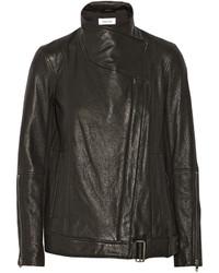 Helmut Lang Textured Leather Biker Jacket